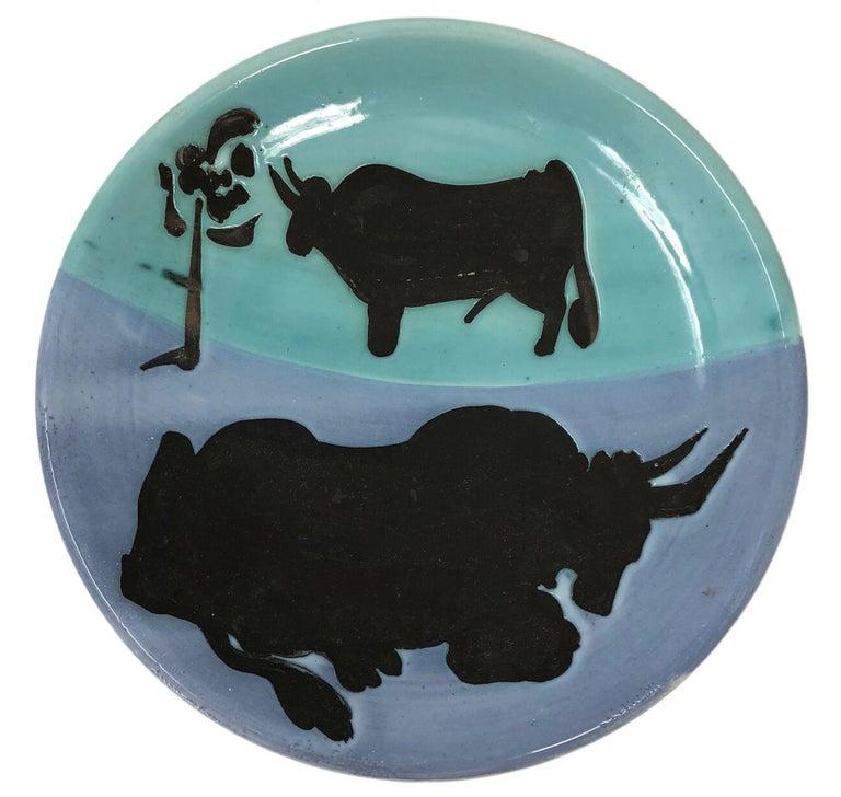 Picasso Madoura Ceramic Ramie 161 Toros For Sale 1