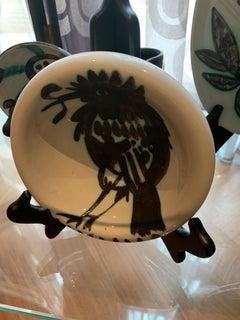 Picasso Madoura Ceramic Ramie 172 Bird on Branch