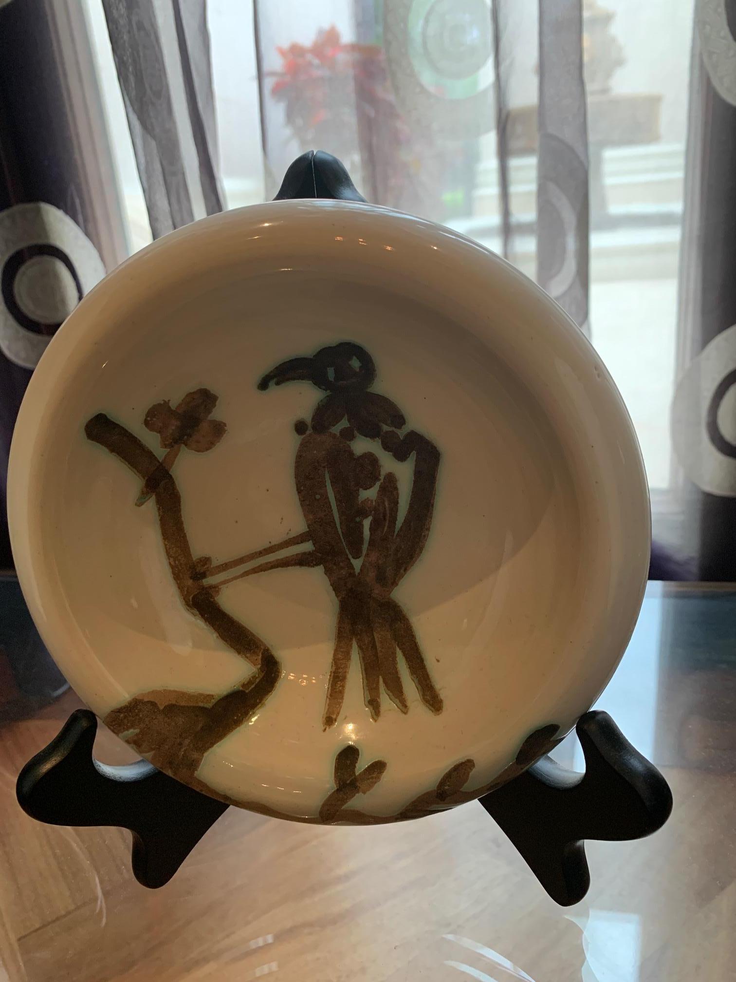Picasso Madoura Ceramic Ramie 175 Bird on Branch
