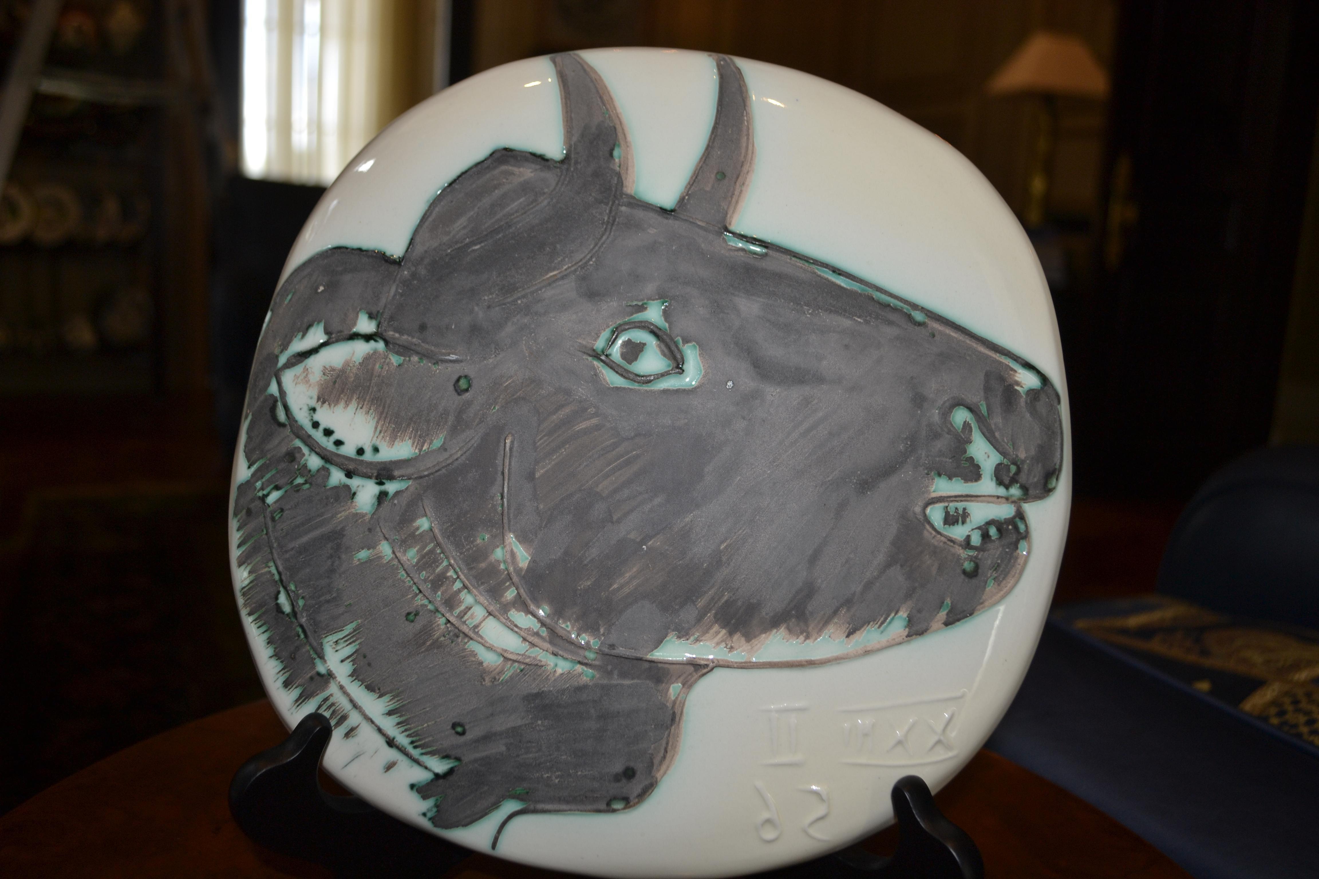 Ramie 317 Profile of the Bull Picasso Madoura Ceramic
