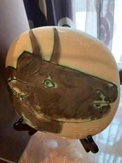 Picasso Madoura Ceramic Ramie 317 Profile of the Bull