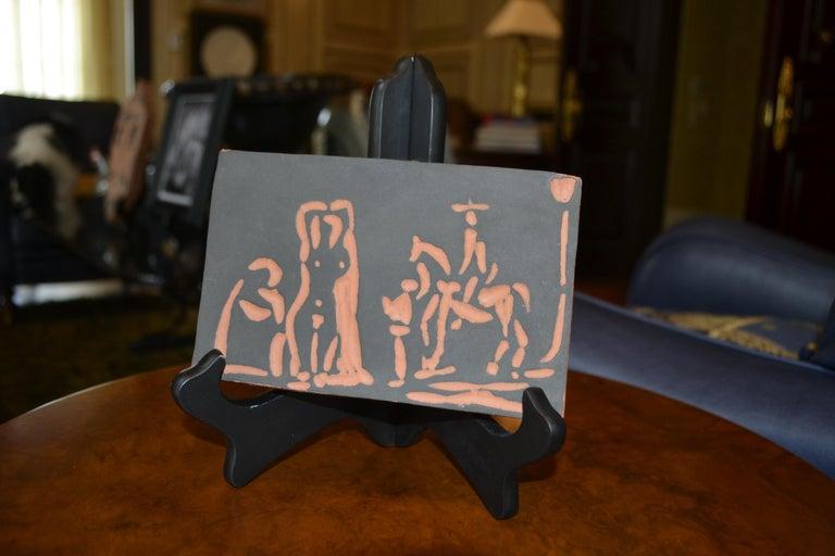 Picasso Madoura Ceramic Ramie 540 Figures and Cavalier - Print by Pablo Picasso