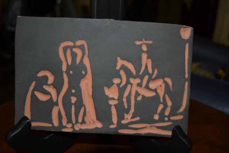 Picasso Madoura Ceramic Ramie 540 Figures and Cavalier - Cubist Print by Pablo Picasso