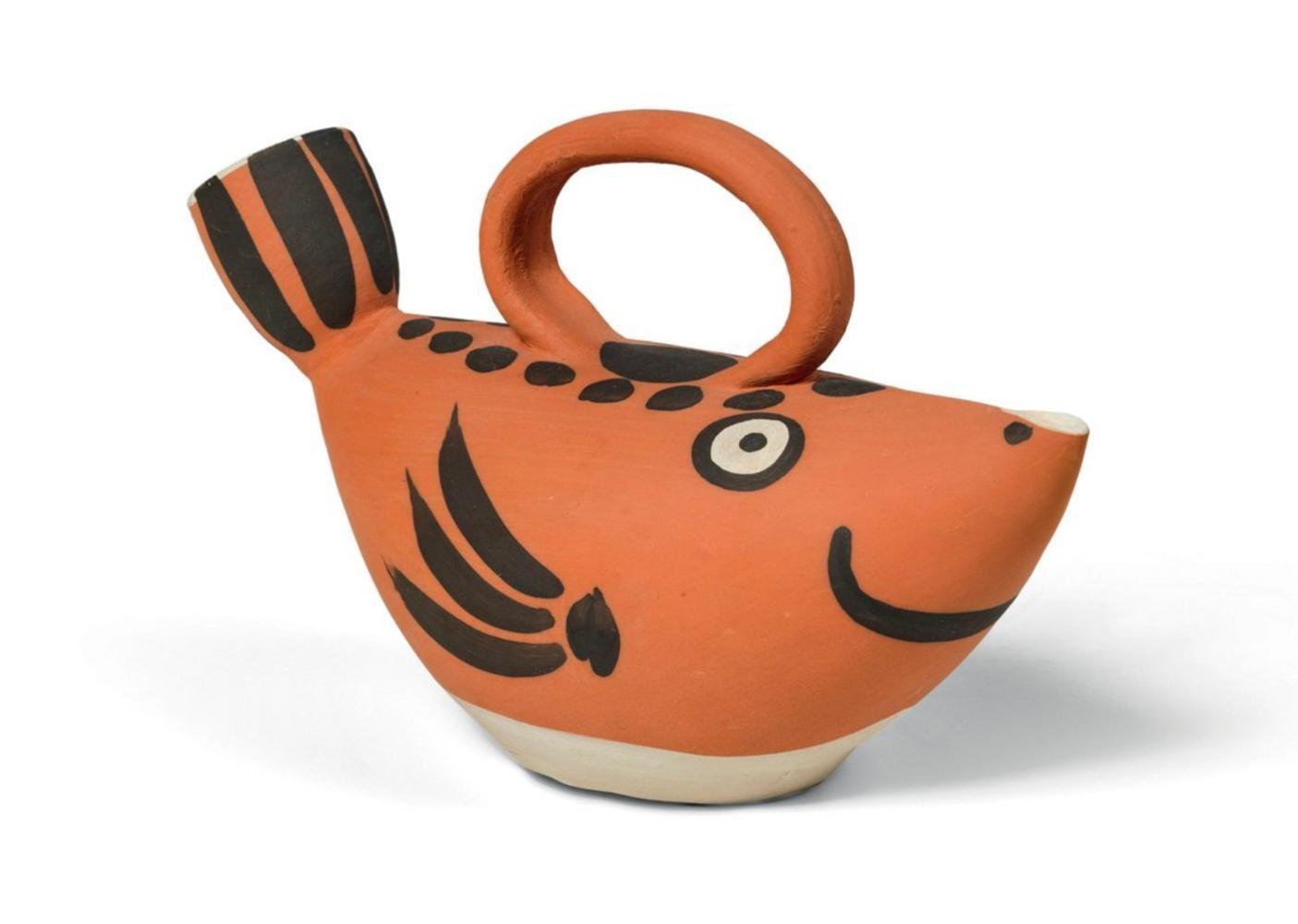 Pichet Poisson, Pablo Picasso, Ceramic, Madoura Vallauris, Fish, Sculpture, 50's