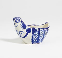 Pichet Poule, by Pablo Picasso, Pitcher, 1950's, Design, Blue, Decoration