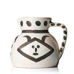 Pichet Têtes, Pablo Picasso, 1950's, Sculpture, Ceramic, Pitcher, Design