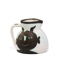 Pichet Têtes, Pablo Picasso, Earthenware,  1950's, Decorative Art, Design