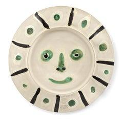 Plat visage aux tâches, Pablo Picasso, Plate, Madoura, Design, Decoration