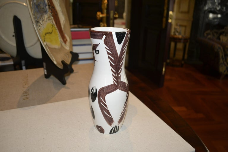 Ramie 135 Chouetton PIcasso Madoura Ceramic - Brown Still-Life Sculpture by Pablo Picasso