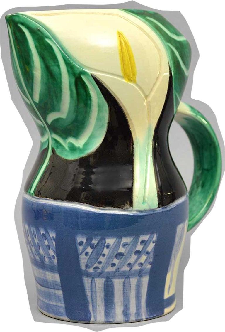 Ramie 189 Picasso Madoura Ceramic Pichet Aux Arums - Cubist Sculpture by Pablo Picasso