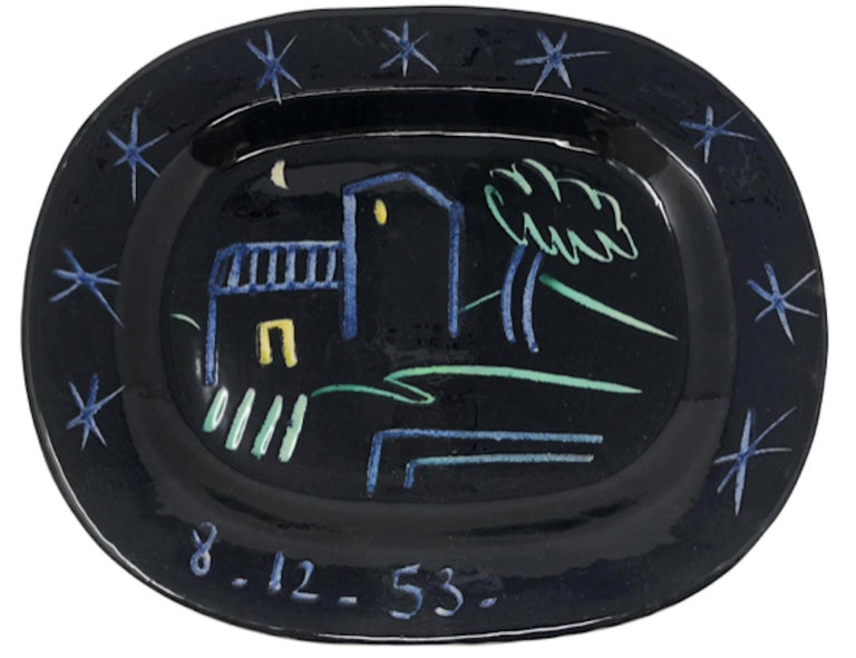 Ramie 204 Picasso Madoura Ceramic Landscape - Sculpture by Pablo Picasso