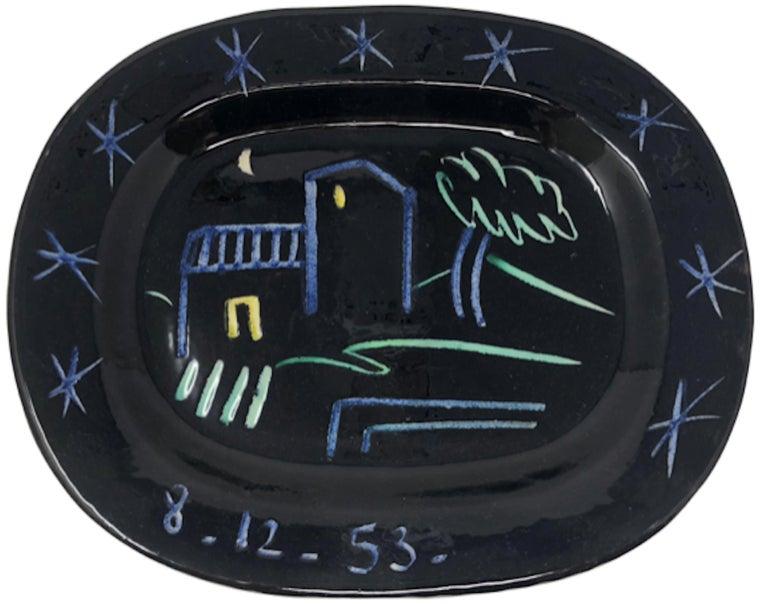 Ramie 204 Picasso Madoura Ceramic Landscape - Cubist Sculpture by Pablo Picasso