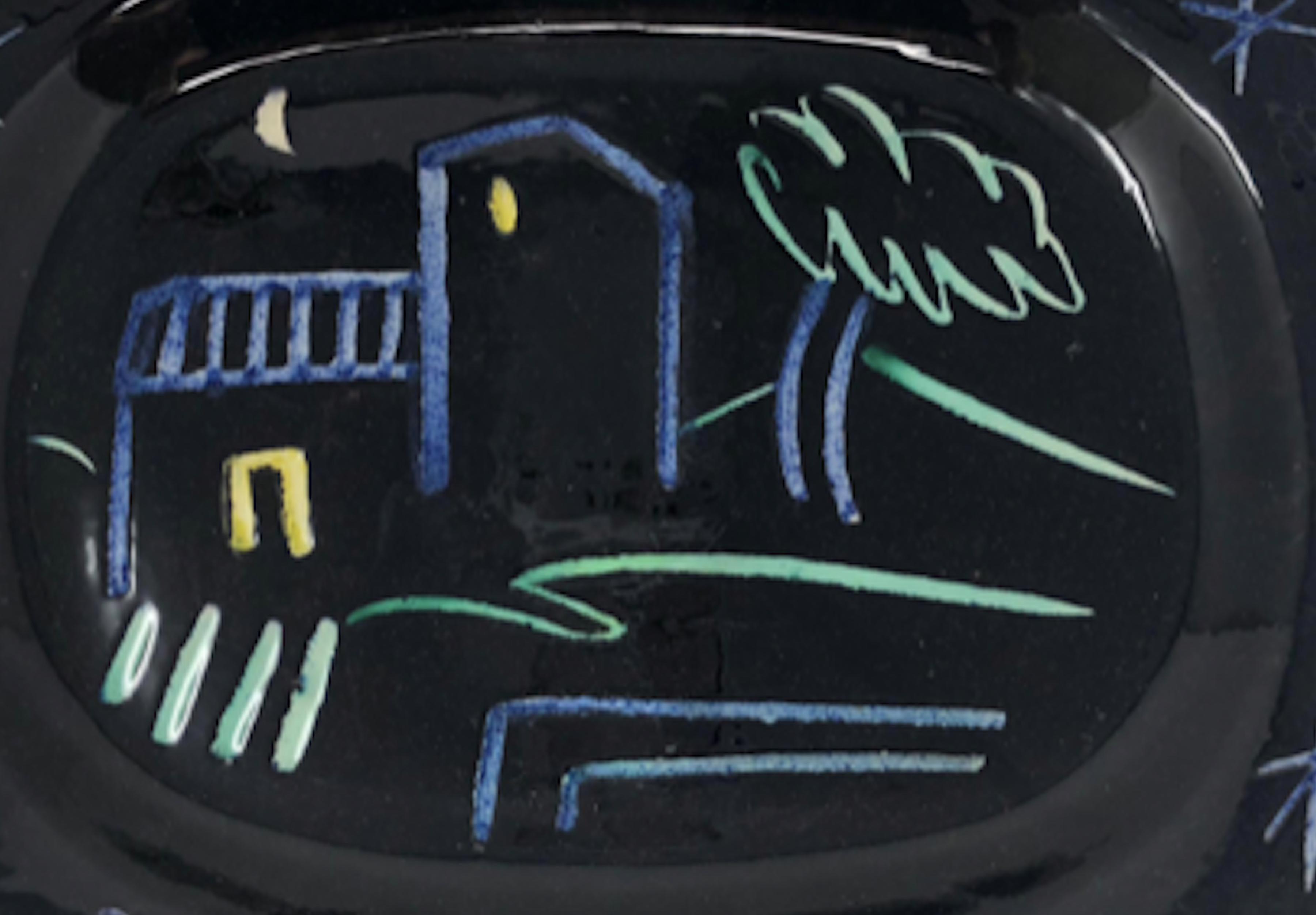 Ramie 204 Picasso Madoura Ceramic Landscape