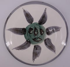 Sun Head - Ceramic - 150 copies - Original ceramic Madoura (Ramié #478)