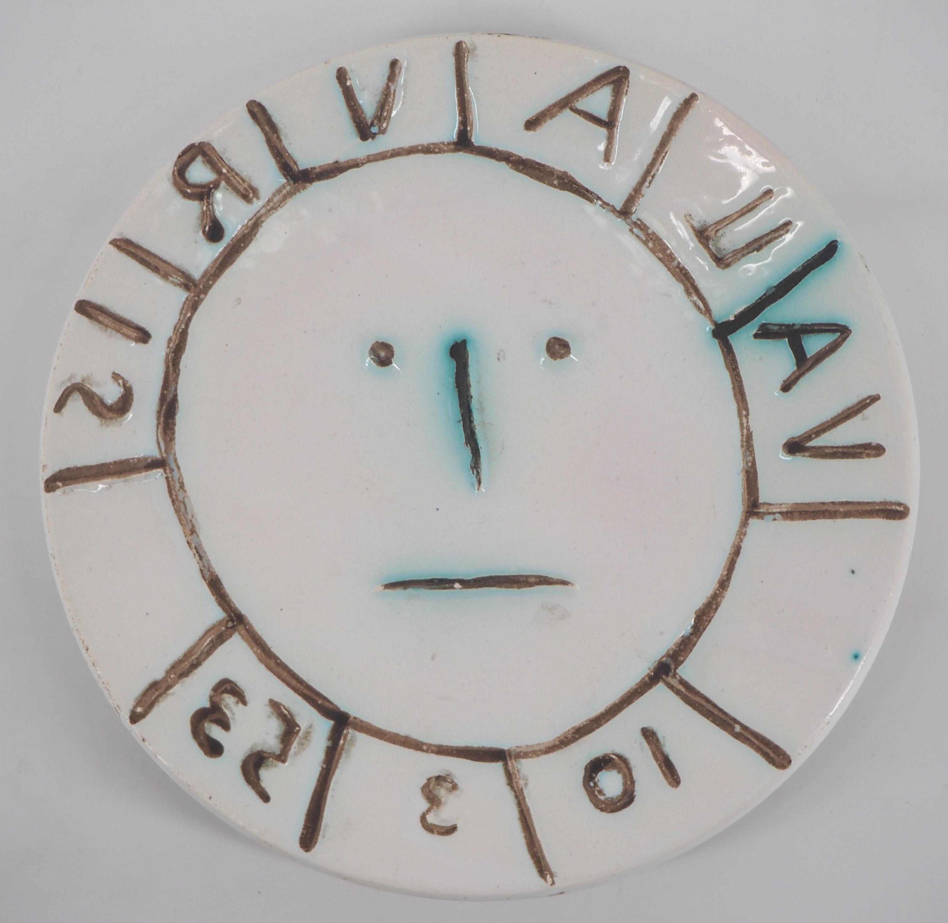 Vallauris Sun - Ceramic - Edition of 400 - Original ceramic Madoura (Ramié #179)