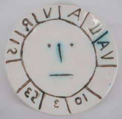 Vallauris Sun - Ceramic - Edition of 400 - Original ceramic Madoura (Ramié #179)