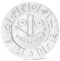 Visage en forme d'Horloge, Pablo Picasso, Silver, 1950's, Design, Sculpture