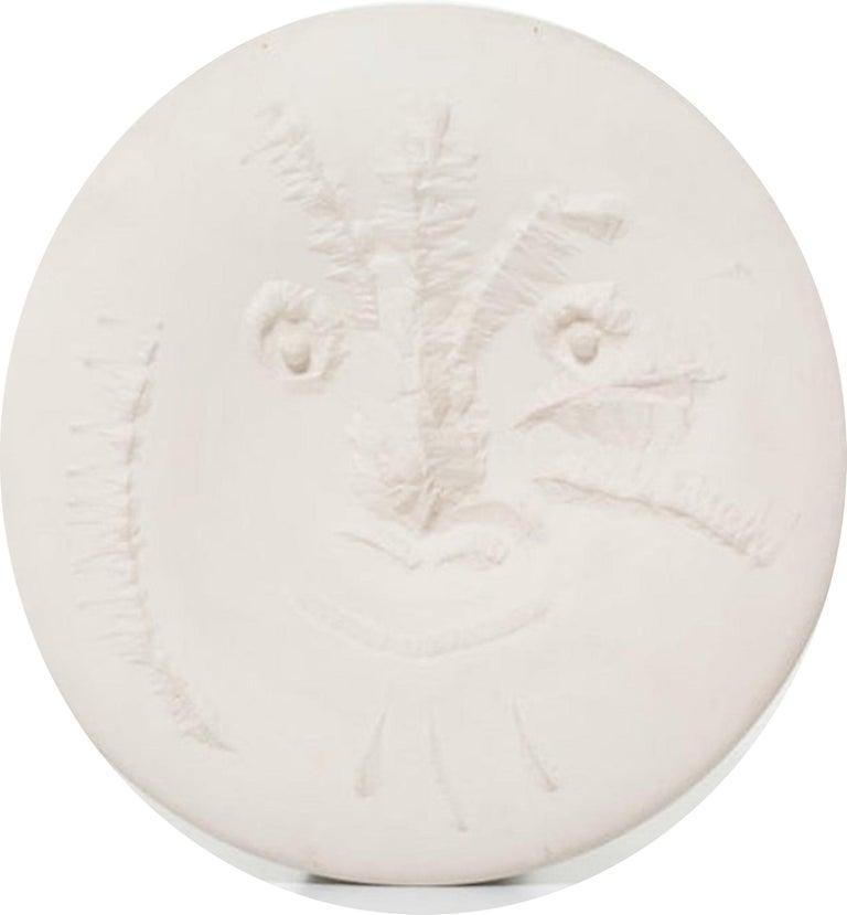Visage En Gros Relief Ramie 505 Picasso Madoura Ceramic - Sculpture by Pablo Picasso