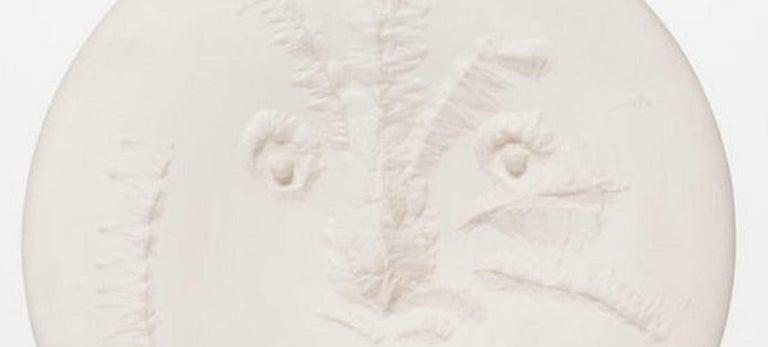 Visage En Gros Relief Ramie 505 Picasso Madoura Ceramic - Cubist Sculpture by Pablo Picasso