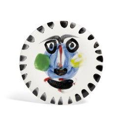 Visage no. 202, Pablo Picasso, Ceramic, 1960's, Sculpture, Madoura, Plate