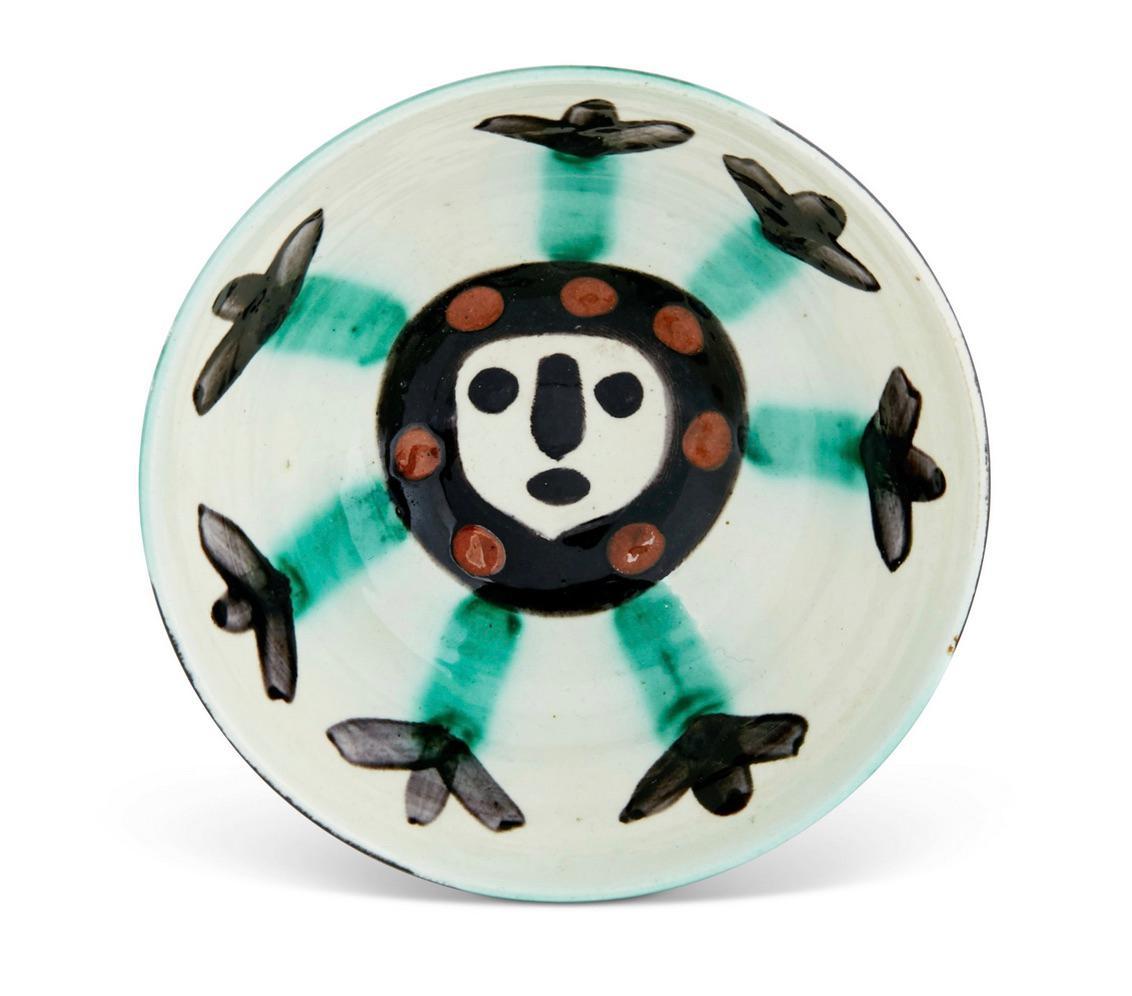 Visage, Pablo Picasso, Face, 1950's, Ceramic, Madoura, Sculpture, Earthenware