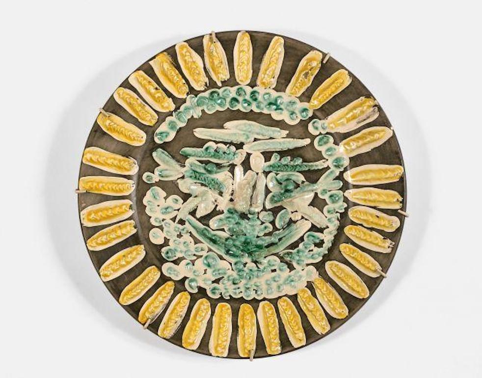 Visage tourmenté, Pablo Picasso, Ceramic, Limited edition, 1950's, Madoura