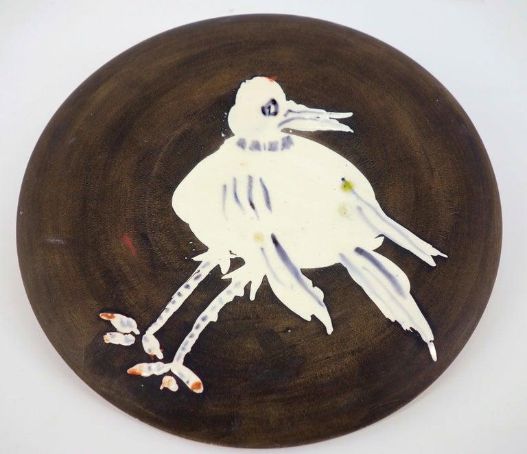 White Bird - Ceramic - 200 copies - Original ceramic Madoura (Ramié #486) - Black Figurative Sculpture by Pablo Picasso