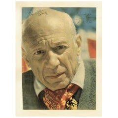 Pablo Picasso Genuine 1960 Signed and Inscribed Magazine Photograph