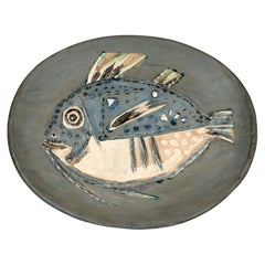 Pablo Picasso Unique Plat Poisson Ceramic Platter, 1952