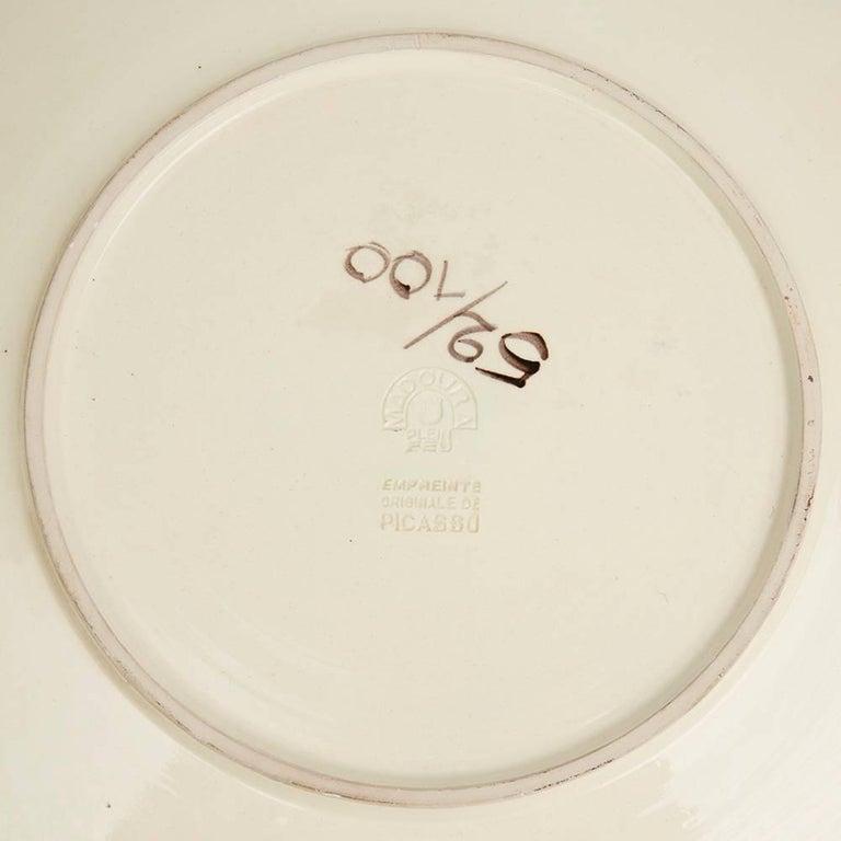 Mid-Century Modern Pablo Picasso, Scène De Tauromachie Dish 'A. R. 412' For Sale