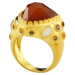 Pac Gem Ring in 18K Gold
