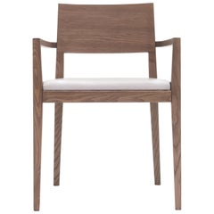 Paccini & Cappelini Betty Chair in Ashwood and Leather by Studio Tecnico Pacini