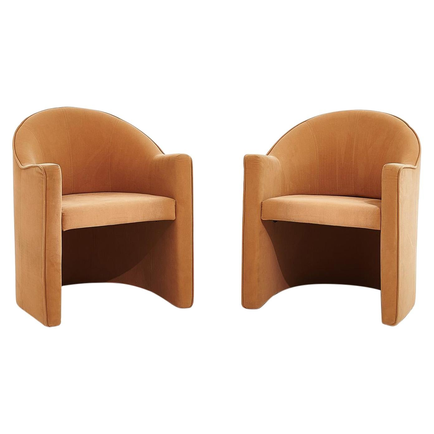 Pace Barrel Back Lounge Chairs by Mariani, Italy, 1980