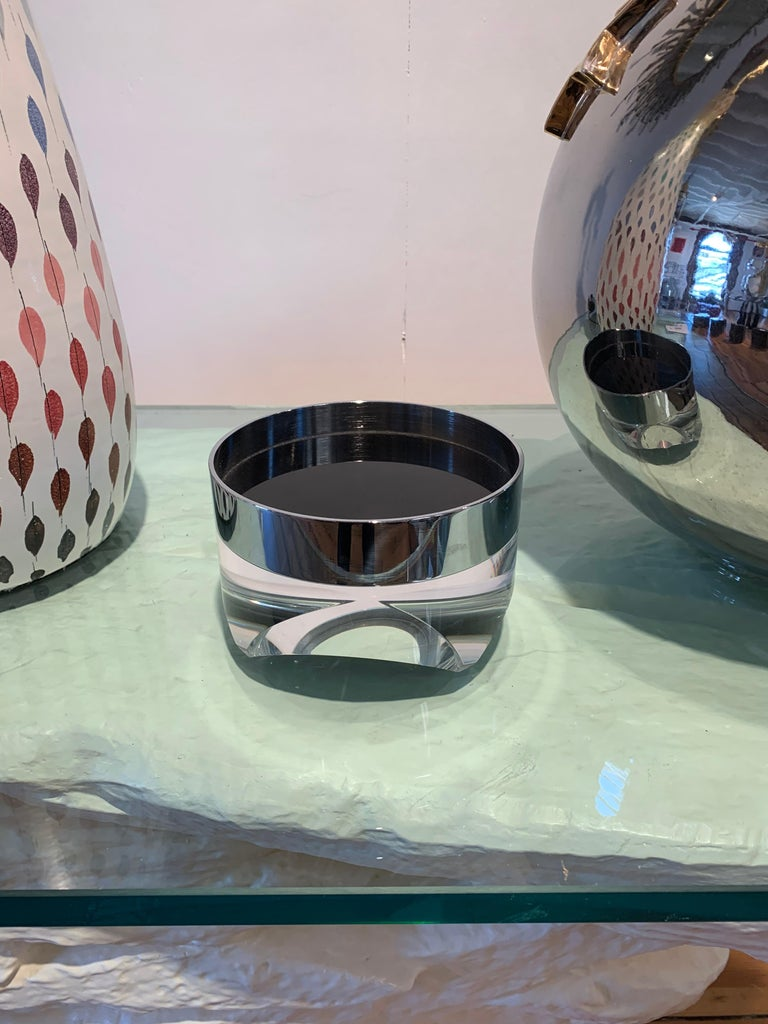 Pace Bowl, Lucite and Chrome Nickel Steel For Sale 2