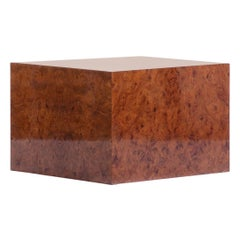 Pace Burl Wood Cube Table