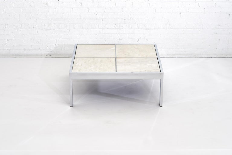 Mid-Century Modern DIA Chrome and Marble Coffee Table, 1970s For Sale