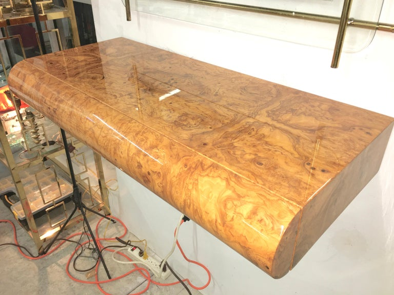Pace Collection Burl Floating Console For Sale 6