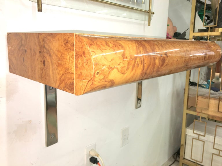 Pace Collection Burl Floating Console For Sale 7