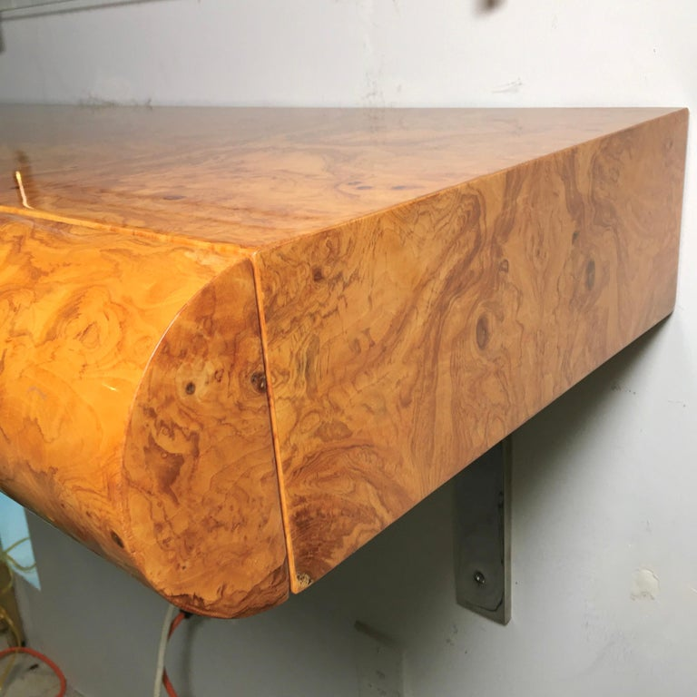 Pace Collection Burl Floating Console For Sale 1