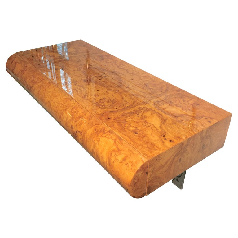 Pace Collection Burl Floating Console For Sale