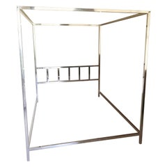 Pace Collection Chrome Canopy Queen Bedframe