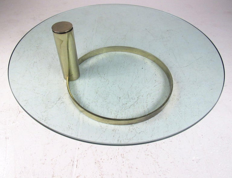 Plated Pace Collection Coffee Table by Leon Rosen For Sale