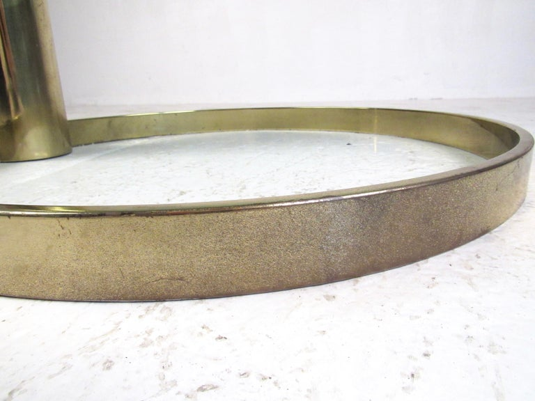 Brass Pace Collection Coffee Table by Leon Rosen For Sale