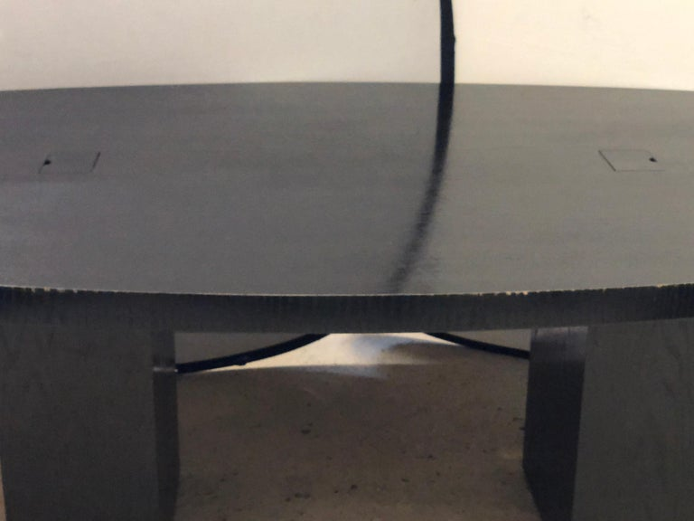 Pace Collection Conference Table, Modern Ebonized Oak, Part of a Set In Good Condition For Sale In Stamford, CT