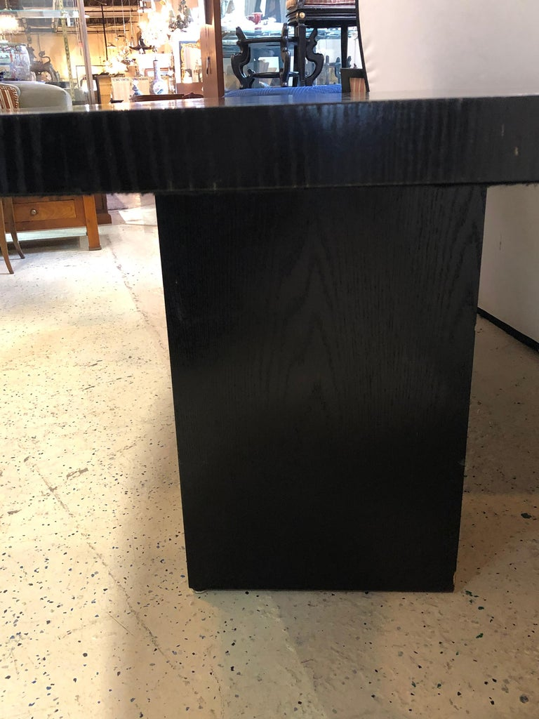Pace Collection Conference Table, Modern Ebonized Oak, Part of a Set For Sale 3