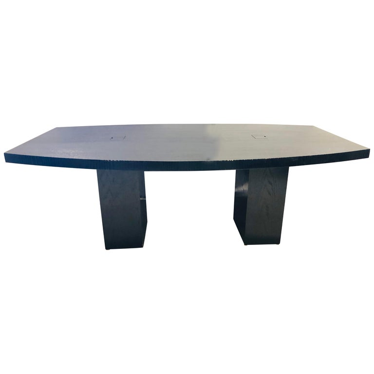Pace Collection Conference Table, Modern Ebonized Oak, Part of a Set For Sale