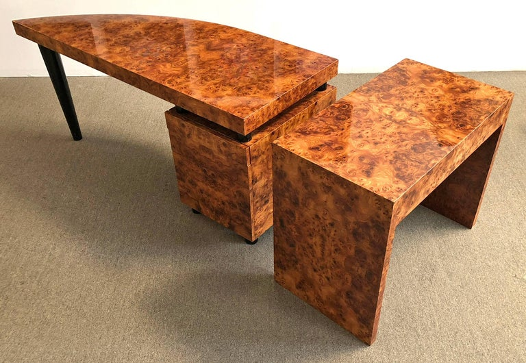 Hand-Crafted Pace Collection Desk or Console Table by Leon Rosen For Sale