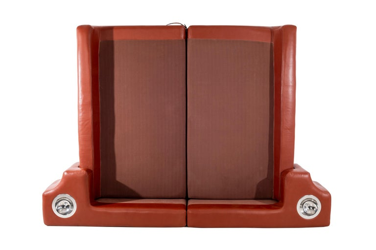 Leather Pace Collection King Size Bed For Sale
