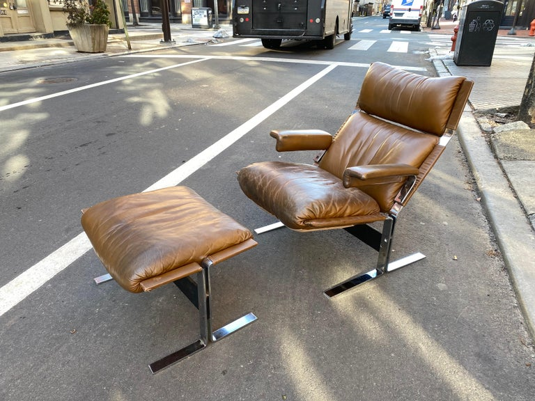 Pace Collection Lounge Chair and Ottoman Designed by Richard Hersberger 7