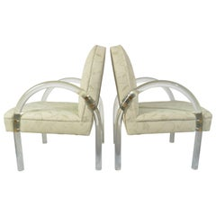 Pace Collection Lucite Waterfall Armchairs